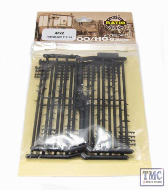 Ratio 452 Telegraph Poles x 16 /'00/' Gauge =1//76 Scale Plastic Kit 1st Class Post