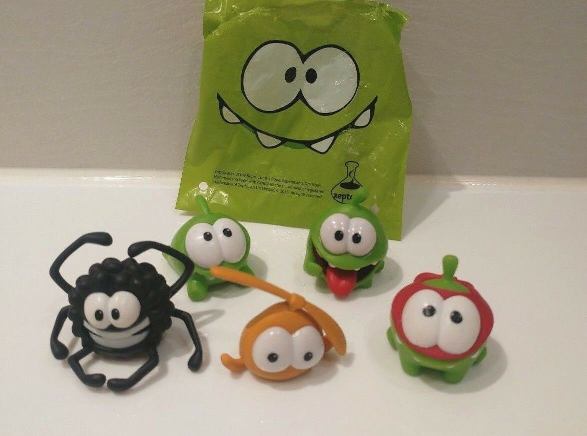 Prosto Toys Toys Toys PVC Cut the Rope figure Om Nom toy 5pcs collectible Original - bd6b42