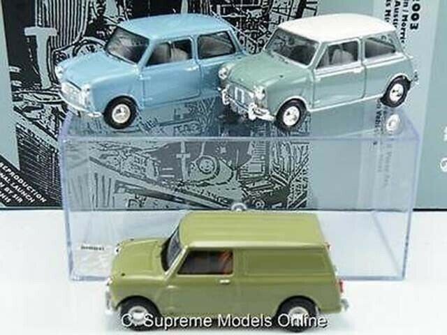 Austin Morris Mini 50TH aniversario 3 piezas juego de Coche Modelo MI2003 1 43 vanguardias K8