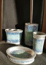 4 Pezzi Set accessori bagno in ceramica