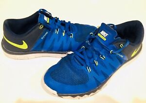 pretty nice d42ba 8572c Details about NIKE FREE 5.0 TR FLYWIRE Men's 7.5 Blue Black