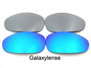 Replacement-Lenses-For-Oakley-Straight-Jacket-Blue-amp-Titanium-Polarized-2007