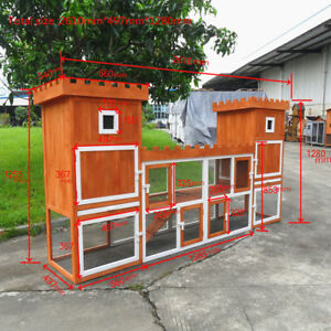 102-8-034-PRO-Wooden-Rabbit-Hutch-Poultry-Hen-House-Chicken-Coop-Two-Storage-Area
