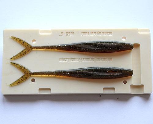 Soft Plastic Lure Bait Mold Moule Gießform für Gummiköder W65 2 x150 mm CNC Mold