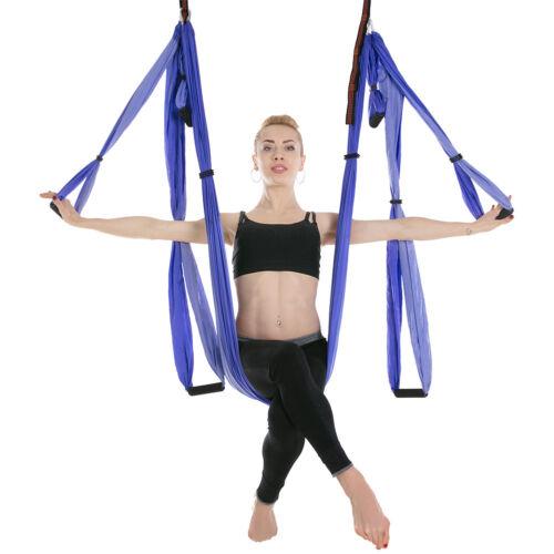 Aerial Yoga Swing Kit Set Hammock Inversion Sling Trapeze Antigravity Strong