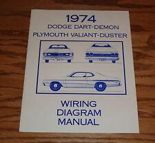 1974 Dodge Dart-Demon Plymouth Valiant-Duster Wiring Diagram Manual 74