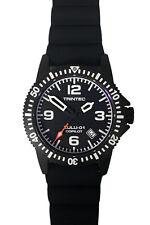 Trintec Aviation ZULU-01 Co-Pilot Men's Black Steel Watch with Rubber Band
