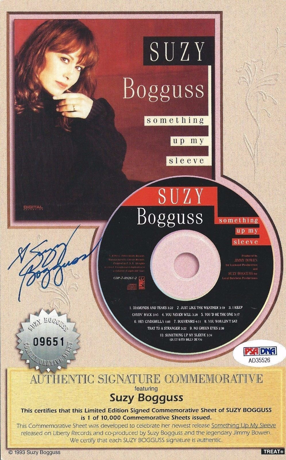 Suzy Bogguss Signed 5.5x8.5 Photo *American Singer-Song Writer PSA AD35526