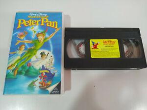 PETER-PAN-LOS-CLASICOS-de-Walt-Disney-VHS-Cinta-Castellano