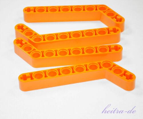 1x9 a6 4 x Liftarm dick orange / 32271 NEUWARE 7 auf 3 LEGO Technik