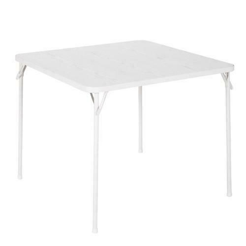 Cosco Square Textured Wood Grain Resin Top Folding Table