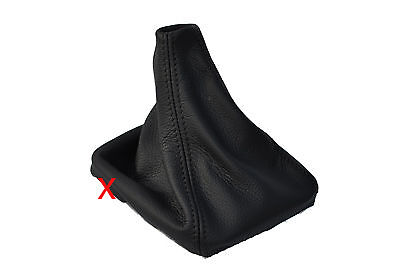 BLACK DOUBLE STITCH FITS FORD C MAX  C- MAX FL 2007-2010 LEATHER GEAR GAITOR