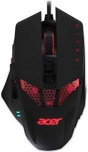 Acer Nitro Gaming optical Mouse, Black 4000 dpi, 8 Button(s)