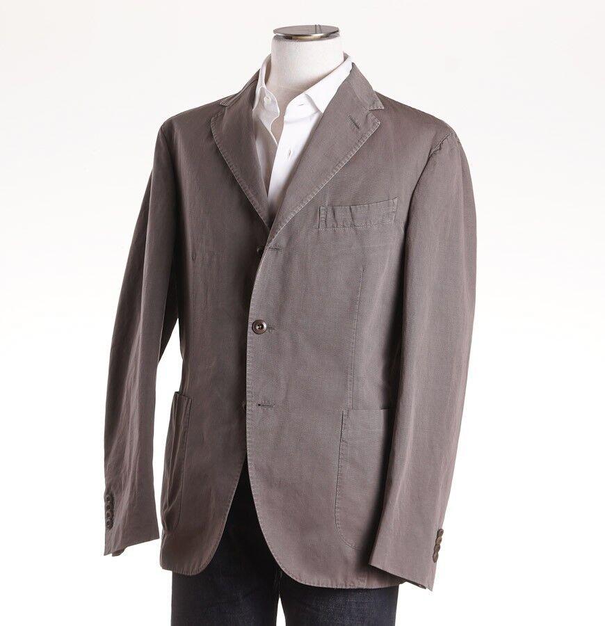 NWT 1175 BOGLIOLI Stone Beige-grau Woven Cotton-Linen Sport Coat 40 R (Eu 50)