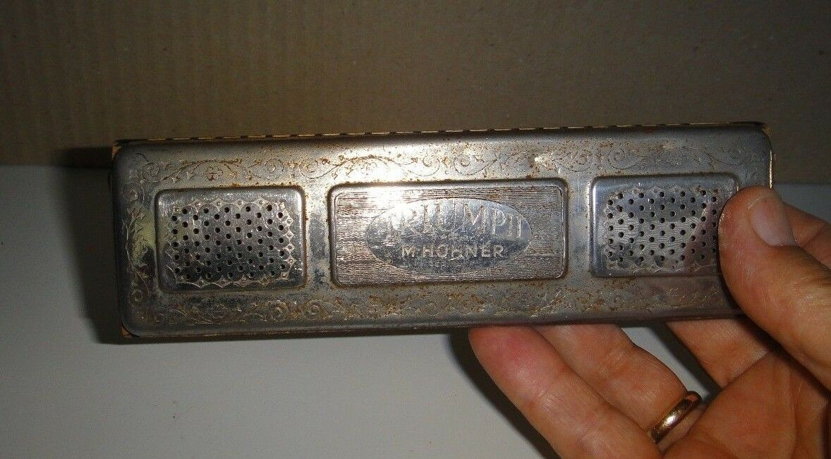 Rare Antique 1887   TRIUMPH   Double Sided M. Hohner Harmonica - Germany