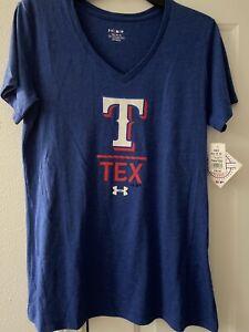 Texas Rangers Under Armour Women's Shirt Size Medium NWT $35.00 Genuine nice