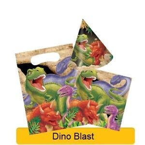 DINO-BLAST-Birthday-Party-Range-Dinosaur-Tableware-Balloons-amp-Decorations