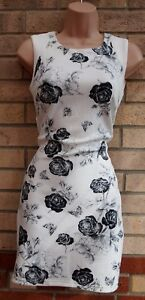 42921daa5d8 Image is loading VIOLA-WHITE-BLACK-GREY-ROSES-BANDAGE-BODYCON-SUMMER-