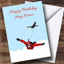 Skydiving Personalised Birthday Greetings Card