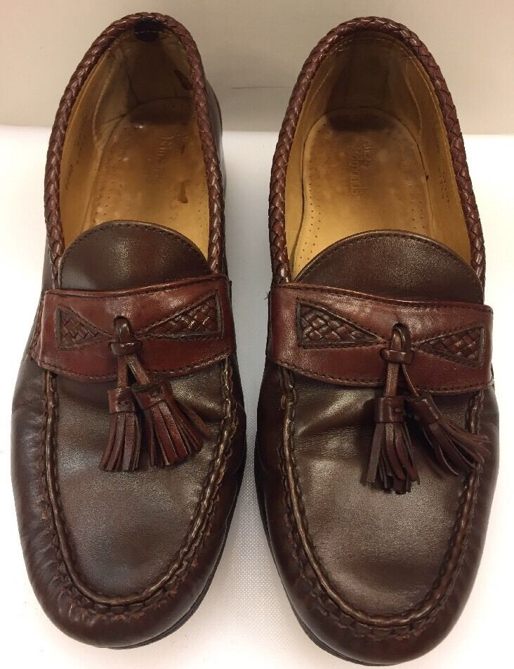 Allen Edmonds Maxfield Tassel Penny Loafers Burgundy US Made Men's 10.5 D 49307