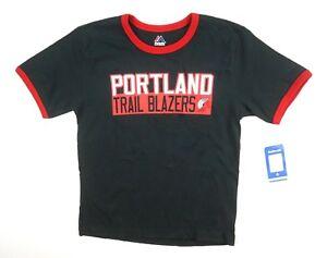 NEW-MAJESTIC-BOYS-NBA-BLACK-DAMIAN-LILLARD-PORTLAND-TRAIL-BLAZERS-T-SHIRT-sz-S
