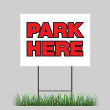 12x18 Free Parking Park Here Store Yard Sign With Stake Outdoor Coroplast