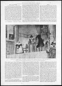 1898-Antique-Print-LONDON-Beaumont-Fletcher-Coxcomb-Elizabethan-Stage-05