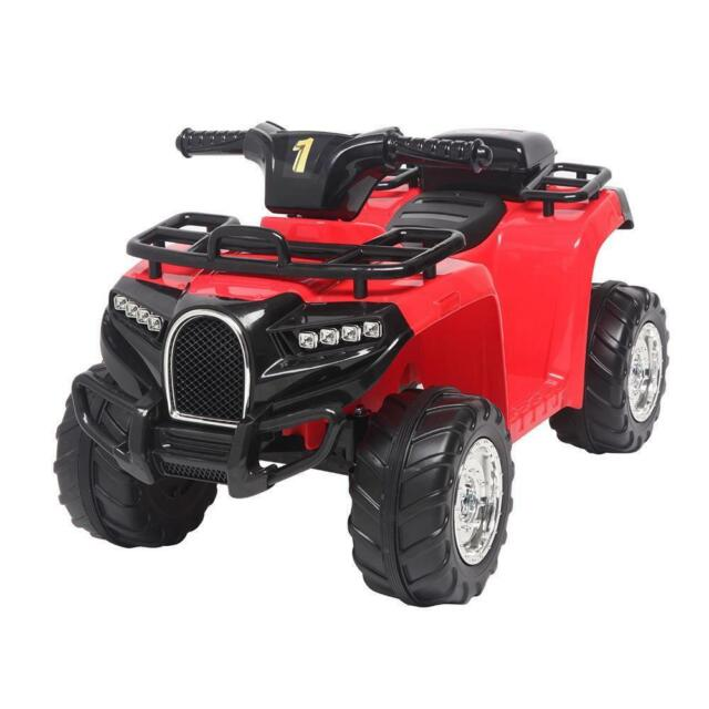 6V Electric Kids Ride On ATV Quad 4 Wheels Toys Car Led Lights Battery Power RED