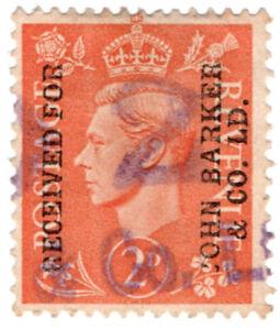 I-B-George-VI-Commercial-Overprint-John-Barker-amp-Co-Ltd