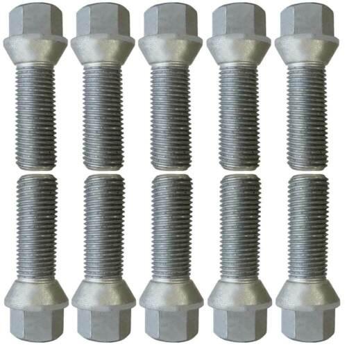 10 tornillos perno de rueda kegelbund m14x1,5 40mm volvo s60 s80 v60 v70 xc60 xc70