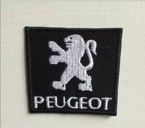 Peugeot car racing sport art badge Embroidered Iron on Sew on Patch