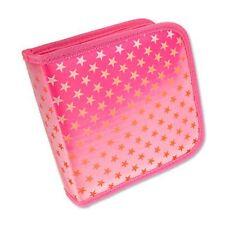 CD DVD Case Wallet Lenticular Color-Changing Red Stars Pink #CD24-R-012P#