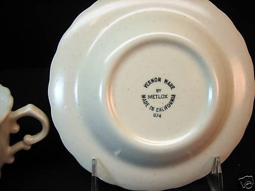 METLOX POPPYTRAIL FRUIT BASKET  CUP//SAUCER  NEW