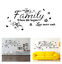 Family Stickers Decals Wall Decor Where Life Begins Loves Never Ends Flowers Set