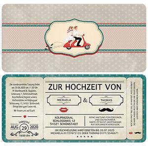 Einladungskarte-zur-Hochzeit-Vintage-Retro-Eintrittskarte-Ticket-Karte