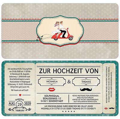 """Cartolina Invito Al Matrimonio-vintage-retro-biglietto Con Perforazione-e Zur Hochzeit - Vintage - Retro - Eintrittskarte Mit Perforation"""" Data-mtsrclang=""""it-it"""" Href=""""#"""" Onclick=""""return False;"""">"""