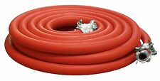 "COMPRESSOR AIR HOSE, 1"" X 50' RED W/ 2 LUG HOSE ENDS (CHICAGO FITTINGS) 300 PSI"
