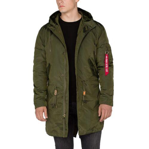 Alpha Industries Hommes Veste Hooded Fishtail TT Parka Manteau Coat Slim Fit Nouveau