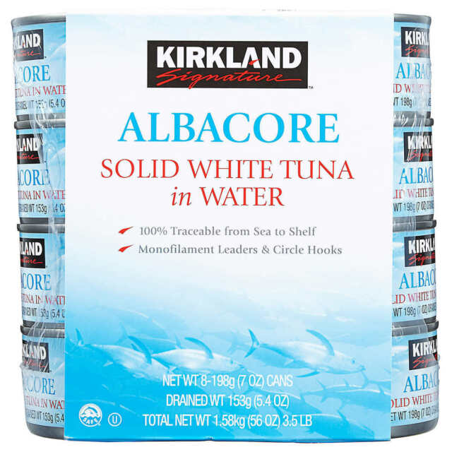 8 Cans- Kirkland Albacore Solid White Tuna in Water 7 oz