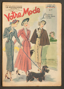 039-VOTRE-MODE-039-FRENCH-VINTAGE-NEWSPAPER-3-FEBRUARY-1949