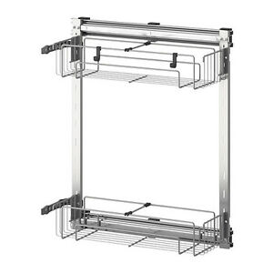 ikea utrusta pull out wire storage baskets runners new. Black Bedroom Furniture Sets. Home Design Ideas