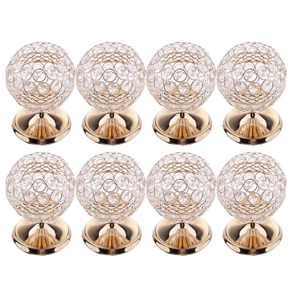 8 X Kristall Kerzehalter Kerzenleuchter Stimmungsleuchten Lampe Hochzeit    Online Outlet Shop