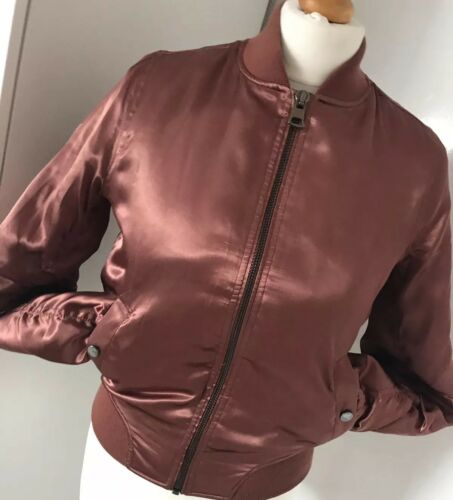 Womens Eur Liquid Topshop Bomber 36 Size 8 Jacket Coat Satin Uk TgqSwZxB