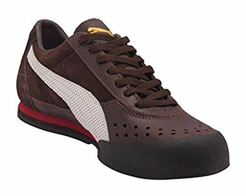 PUMA TIRO II LOW VINTAGE VINTAGE LOW SNEAKERS Uomo SHOES BROWN/WHITE 341465-02 SIZE 7.5 NEW 64f415