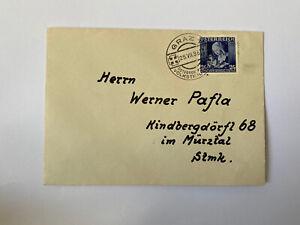Sonderstempel Österreichischer Volkstrauertag 25.VII.36 Marke Muttertag 1936