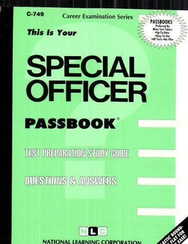 National Learning Corporation-Special Officer BOOK NEW
