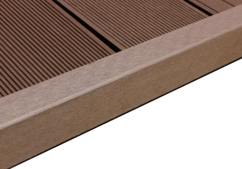 WPC Terrasse Abschlussleiste Abdeckleiste L Leiste chocolate braun 1950x62x37 mm