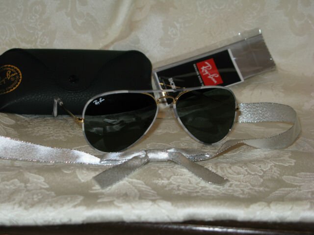 Ray-Ban Aviator Sunglasses with Case and Cloth. New. Authentic. RB3025-J-M.