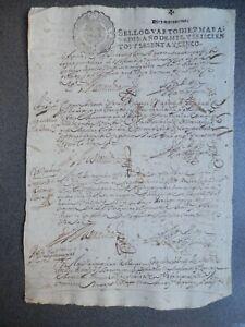 MANUSCRITO AÑO 1665 FISCAL 4º LUJO MEDINA DEL CAMPO VALLADOLID