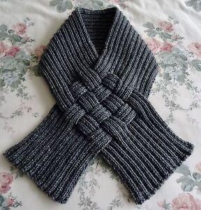 Snood Knitting Pattern Double Knit : ladies snood scarf Dark Grey Acrylic Yarn Double Knit eBay